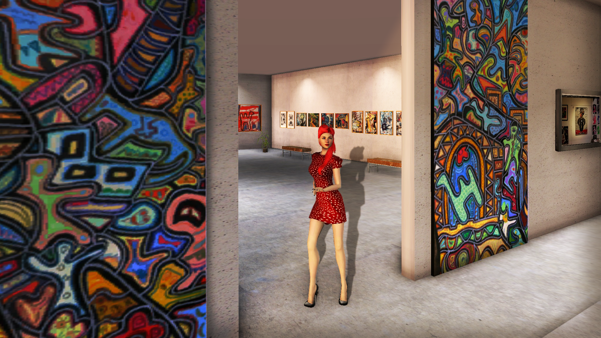 since it is an online walkthrough web dgallery your attention will be fully captivated on the virtual d images this realtime d art gallery gives you
